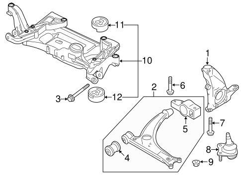 Volkswagen Engine Cradle 3c0199313bb