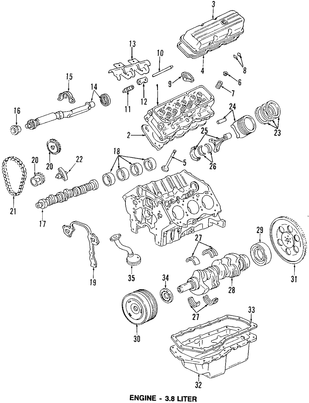 1999 Pontiac Bonneville Parts Diagram