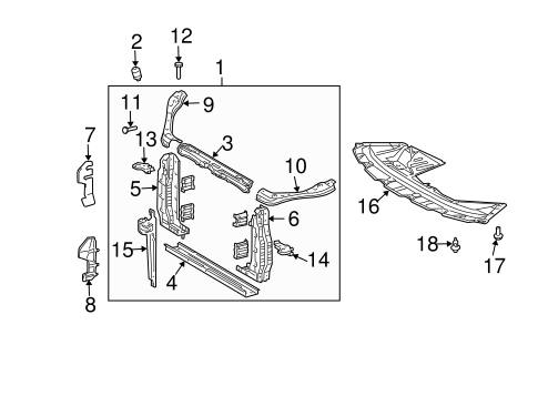 Genuine Oem Radiator Support Parts For 2005 Toyota Sienna Xle. Bodyradiator Support For 2005 Toyota Sienna 1. Toyota. 2000 Toyota Sienna Engine Support Diagram At Scoala.co