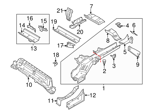 Body/Rails & Components for 2016 Ford Transit Connect #1