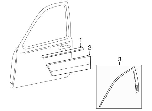 Body/Exterior Trim - Front Door for 2009 Ford Taurus X #1