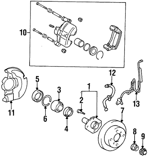 BRAKES/ANTI-LOCK BRAKES for 1997 Toyota Tercel #1