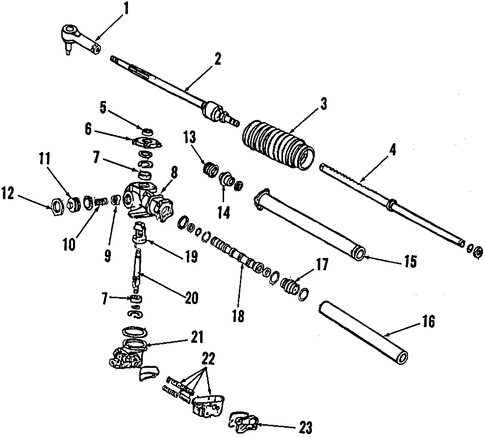 Guide, Steering Rack