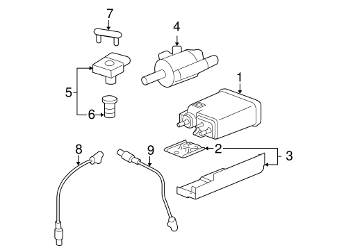 Emission Components For 2007 Gmc Sierra 1500