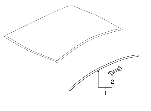 bodyexterior trim roof for 2013 mitsubishi lancer oem mitsubishi parts 1