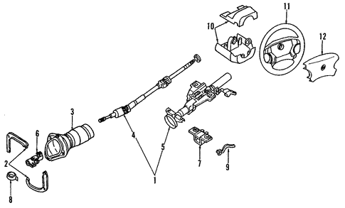 Steering Column for 2003 Nissan Maxima #0