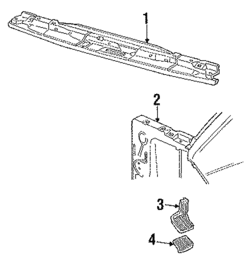Radiator Support for 1987 Ford Aerostar #0