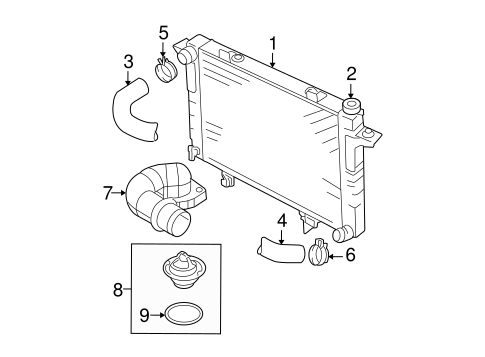 radiator  u0026 components for 2003 dodge ram 2500