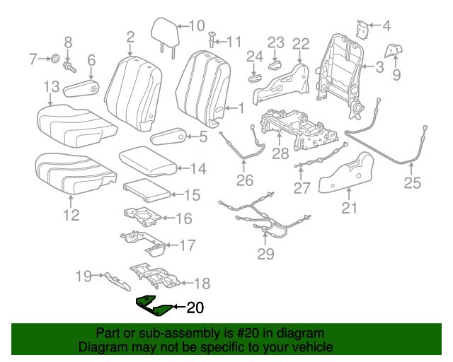 Genuine Hyundai 83460-6A002-LF Side Trim Assembly