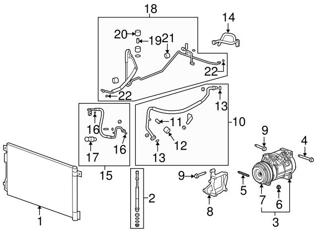 hose tube assembly o ring gm 52474373 gmpartsdirect 06 Venture Interior