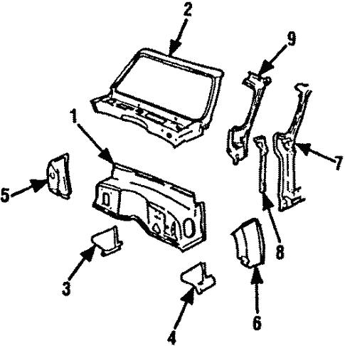 Oem 1991 Chevrolet Suburban V2500 Cowl Parts