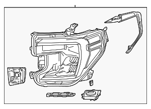 Headlamp Assembly - GM (84388724)
