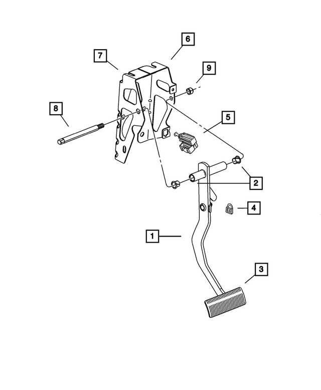 Brake Pedal Pad, Manual Transmission - Mopar (4695364AB)