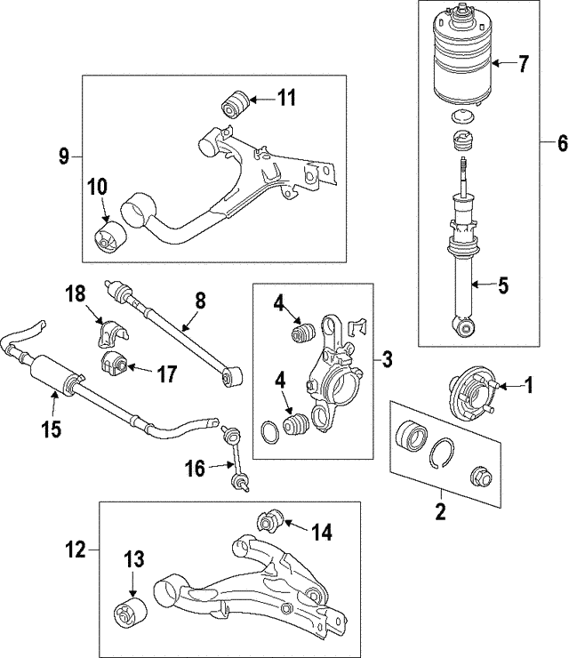 Shock Assembly - Land-Rover (LR038096)