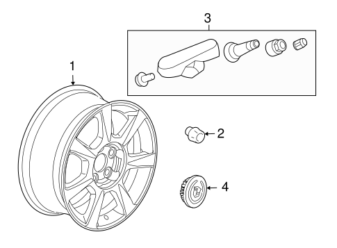 oem 2011 cadillac cts wheels parts. Black Bedroom Furniture Sets. Home Design Ideas
