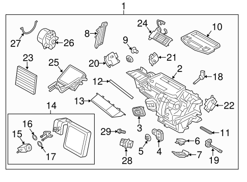 HVAC/Evaporator & Heater Components for 2017 Ford Fiesta #2