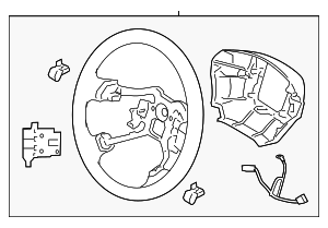 Steering Wheel - Hyundai (56110-3V070-HVD)