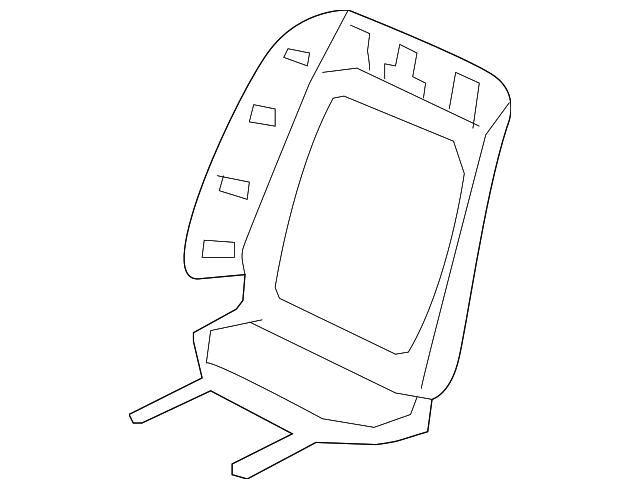Rear Honda Genuine 82131-SVA-A12ZA Seat Cushion Trim Cover