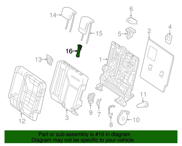 Headrest guide mercedes benz 166 970 08 41 8n84 shop for Mercedes benz parts online shop
