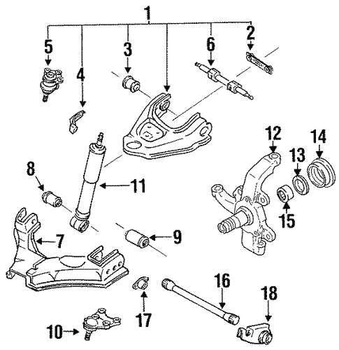 Suspension Components for 1995 Isuzu Trooper #0