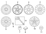 Wheel, Alloy - Hyundai (52910-3Y550)