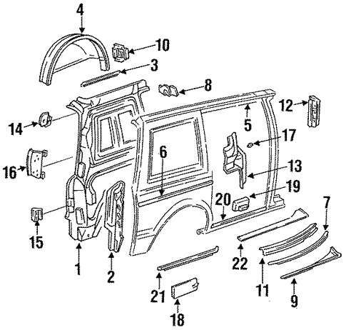 Inner Structure for 1993 Chrysler Town & Country #0
