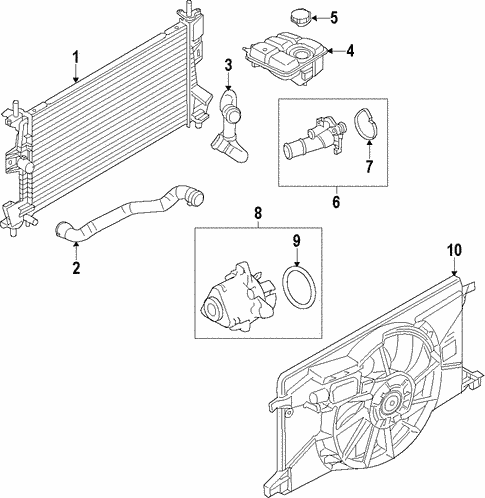 Cooling System/Radiator & Components for 2012 Ford Focus #1