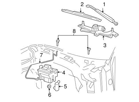 Body/Wiper & Washer Components for 2006 Ford F-150 #1