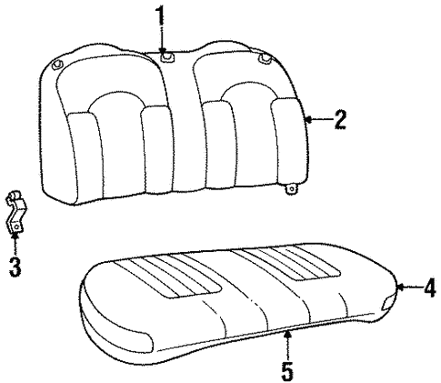 Rear Seat Components For 1997 Lincoln Continental