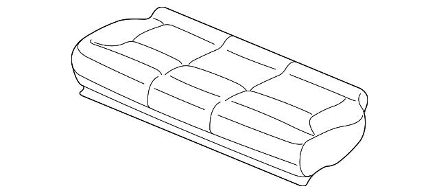 Rear Honda Genuine 82131-S5A-A01ZA Seat Cushion Trim Cover