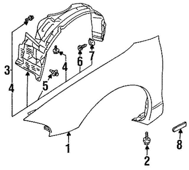 Fender Liner Bolt