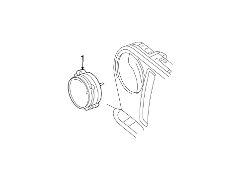 Headlamp Components For 1997 Jeep Wrangler
