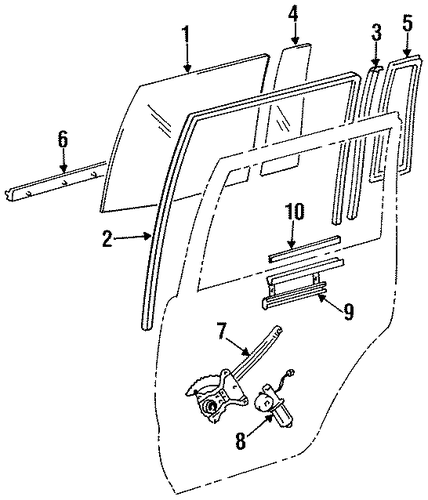 BODY/REAR DOOR for 1996 Toyota Land Cruiser #2