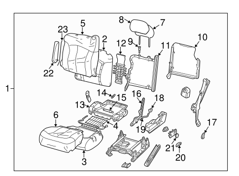 Front Seat Components For 1999 Chevrolet Silverado 1500 Lt