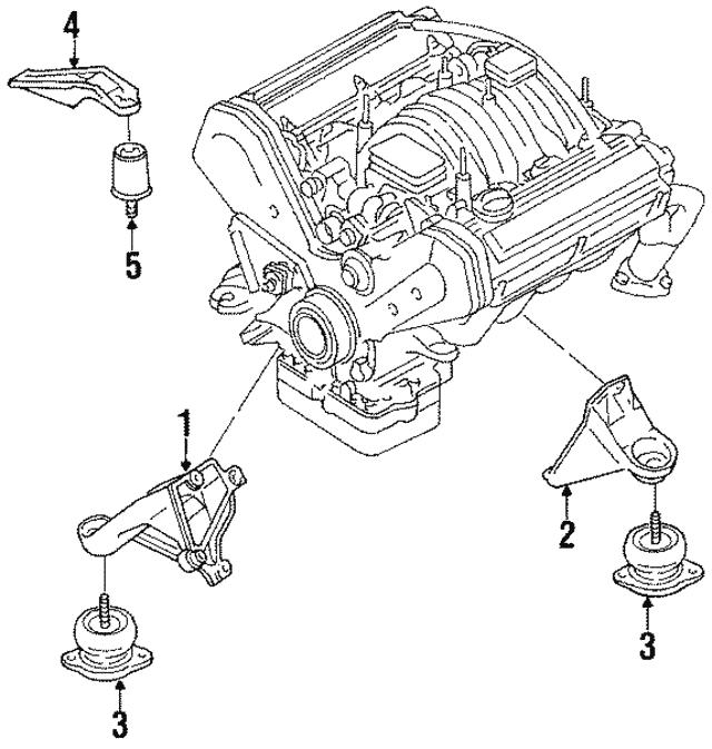 1990 1994 Audi V8 Quattro Stop Bracket Insulator 441 199 267 B