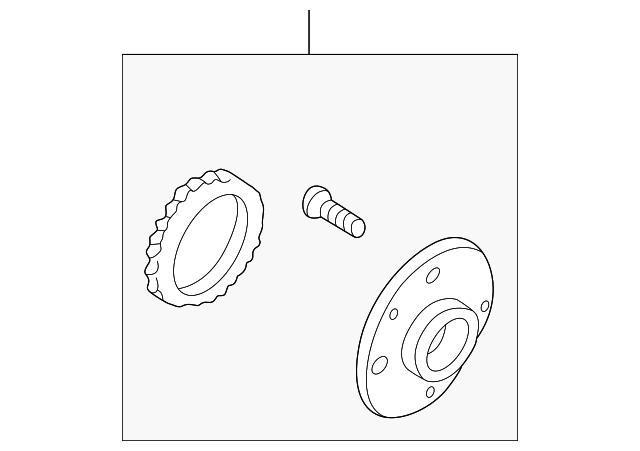 Mazda B455-26-15XB Axle Bearing and Hub Assembly