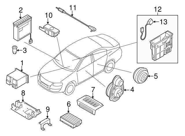 2005 2017 Volkswagen 6 Disc Cd Changer Glovebox 3c0 057 110 A