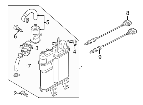 Volkswagen Oxygen Sensor 1k0998262n
