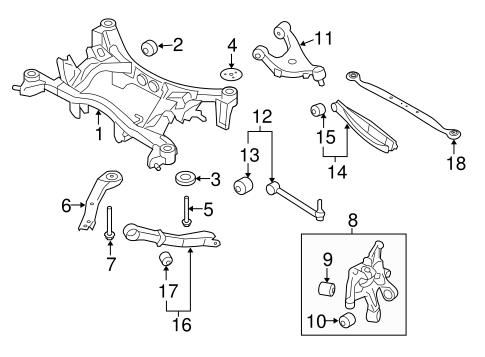 Rear Suspension for 2014 Subaru Forester   Subaru Parts Store