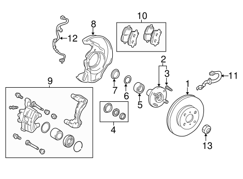 BRAKES/BRAKE COMPONENTS for 2001 Toyota Corolla #2