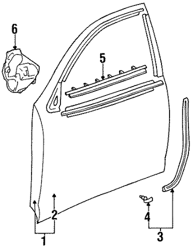 BODY/DOOR & COMPONENTS for 1997 Toyota Avalon #2