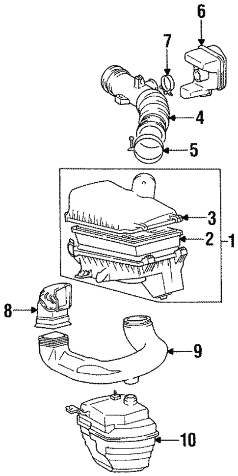 [SCHEMATICS_4NL]  Genuine OEM Air Intake Parts for 1997 Toyota Corolla CE - Olathe Toyota  Parts Center | 1997 Toyota Corolla Engine Diagram |  | Olathe Toyota Parts Center