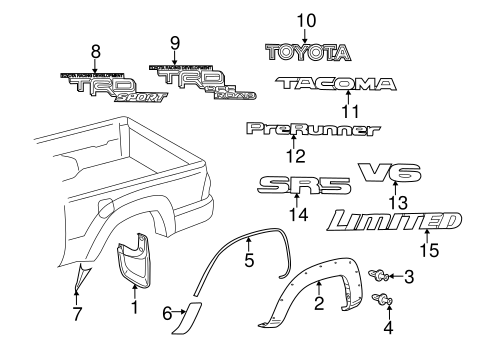 Toyota Tacoma Exterior Parts Diagram Great Installation Of Wiring