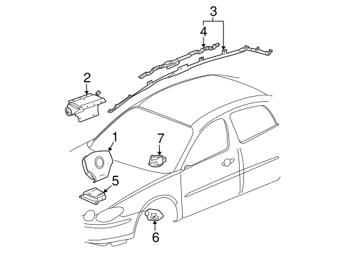 Air Bag Components For 2006 Buick Lacrosse