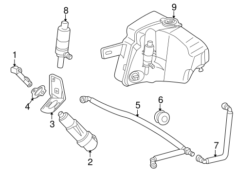 Washer Components for 2003 Mercedes-Benz ML 320 #0