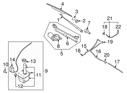 Wiper Washer Components For 2006 Kia Spectra