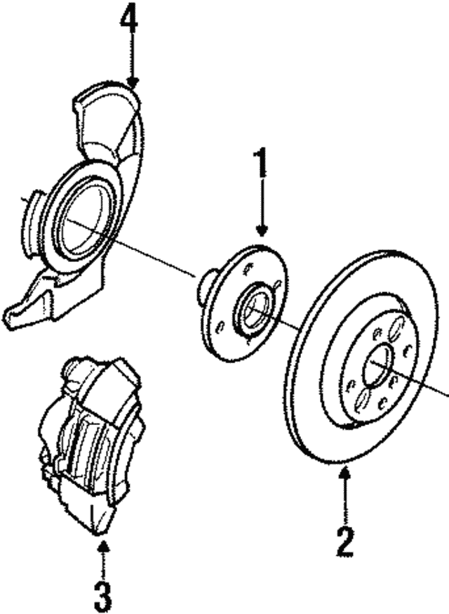 1990 2005 Mazda Front Hub B01a 33 060a