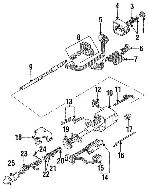 oem 1991 buick regal steering column parts