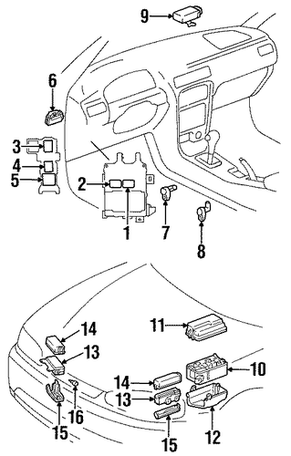 electrical components for 2000 chevrolet prizm