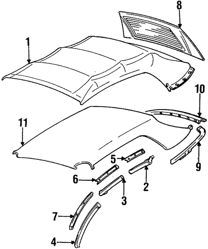 Body/Covers & Trim for 1996 Ford Mustang #1